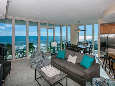 Photo for AMAZING Gulf Views with Deeded Beach Access | Out/Indoor Pools, Hot Tub, Fitness, Boat Dock, Wifi
