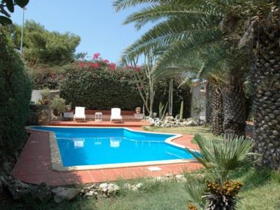 Photo for Farmhouse with shared swimming pool - terrace with sea view - wi-fi