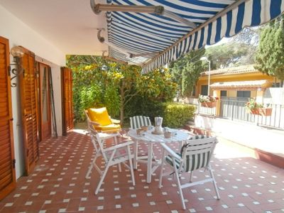 Photo for 3 bedroom Apartment, sleeps 5 with Air Con, WiFi and Walk to Beach & Shops