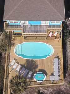 Photo for OCEANFRONT 8 BEDROOM 8 BATH W/POOL SLEEPS 23 LOCATED 3/4 MILES EAST OF PIER