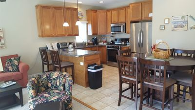 Photo for Beautiful Ocean View Condo - One Block To Beach, King Bed in Master, Pool!