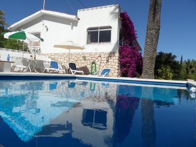 Photo for Lone-standing 3 bedrooms, pool, large Mediterranean garden, sea view, a lot of p