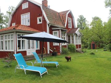a real Swedish house for the big family, about 10 people, 160 m / 2,