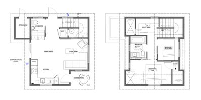 West Side House Rental   Two Floor Plan Showing Layout