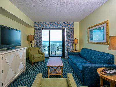 Photo for Oceanfront Views, Sandy Beaches, Salty Air, and a Relaxing Two Bedroom Condo!