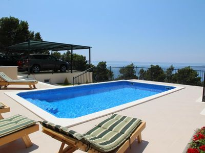 Photo for ctbr223 - Holiday   house with pool, 2 units, 4 + 2 pers., a beautiful view of Brela, the islands and the mountain Biokovo