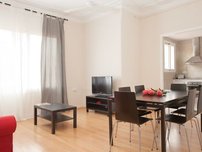 Photo for New apartment in Barcelona, spacious and beautifully furnished
