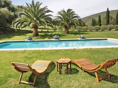 Photo for Charming sheep field with private pool near St Florent