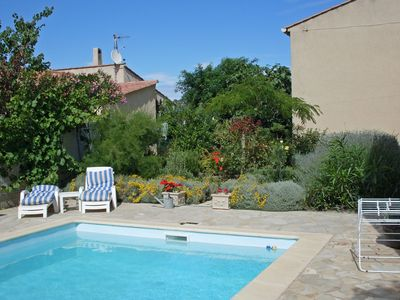 Photo for Villa with flower garden, heated swimming pool, within walking distance of bakery and centre