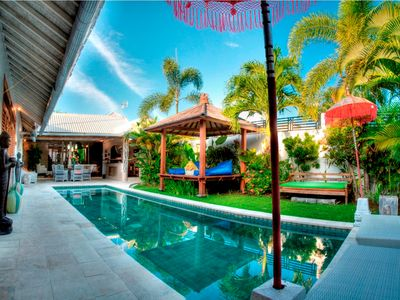 Photo for Yogan 3 bed family villa, Eat St, central Seminyak