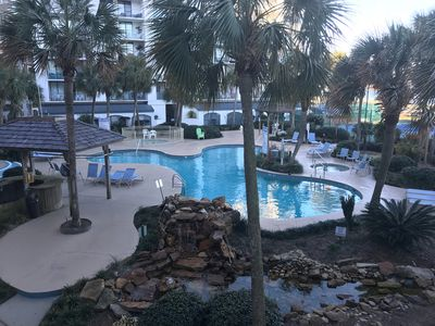 Photo for Lagoon and oasis pool view with deeded beach access and free WiFi. Check it out!