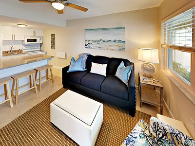 Photo for Steps to the Surf! Beachside Bliss w/ Pool - Walk to Dining & Shops