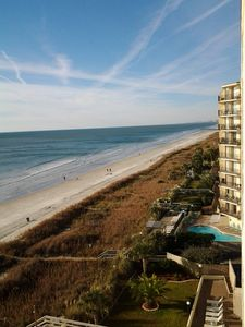 View from 8th floor balcony looking toward south Myrtle Beach