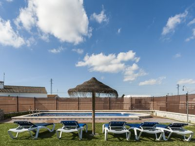 Photo for Semi-detached house with shared pool in Conil