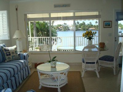 view of intracoastal waterway-3 min to beach priv end unit w balcony, sunny, pool