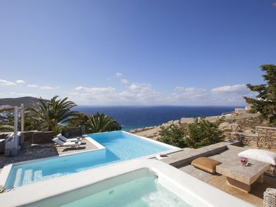 Photo for Private luxury villa with Heated infinity pool , stunning sea views .