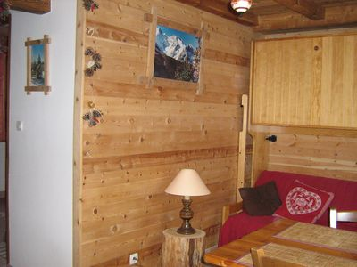 Photo for Serre Chevalier 1400, Le Bez, ski slopes, apartment 4 pers. in house.
