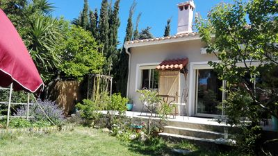 Photo for CANET-Pretty house, enclosed garden, wifi, air conditioning., TV, parking, near beach