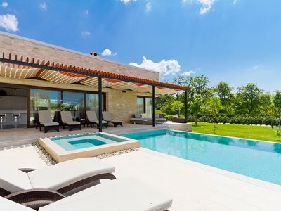 Photo for This 4-bedroom villa for up to 9 guests is located in Sveti Petar and has a private swimming pool, a