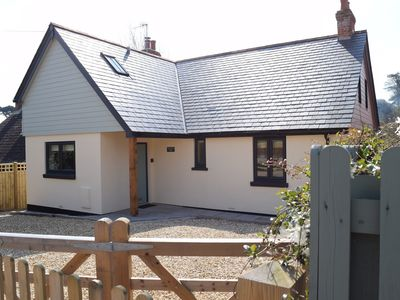 Photo for NEW Chalet bungalow with countryside views, minutes from Totland Bay