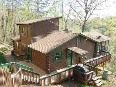 Photo for Relaxing cabin in Lake Lure ~ Large Screened in Porch ~ Mirror Lake access!