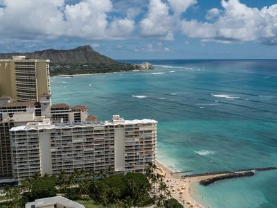 Photo for New unit !Ocean front, the gorgeous Ocean & Fireworks view.   WAIKIKI SHORE