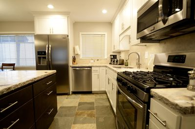 High end, fully stocked kitchen