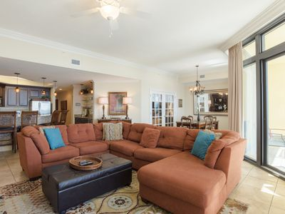 Photo for Gorgeous, luxurious 3BD/4BA gulf front condo! Lazy river, pool with slides!