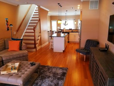2nd Floor - Living Room, Dining Room, and Kitchen