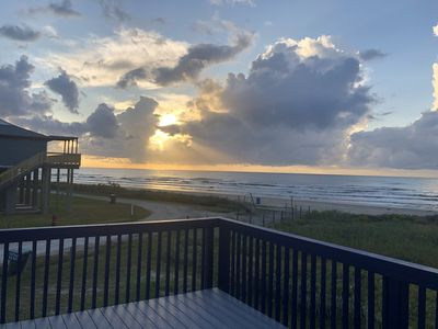 Photo for Beachfront! Pet friendly; October special: Book 3 nights and get 4th no charge!