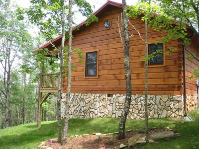 Photo for Fox Den is a cozy private log Cabin nestled alongside the Blue Ridge Parkway.