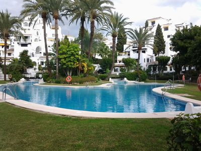 Photo for Luxury Puerto Banus Apartment situated in Tropical Gardens