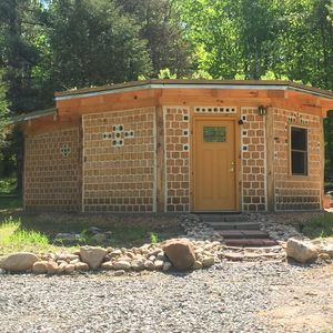 Photo for Unique Cordwood experience with bottle logs, living roof and compost toilet