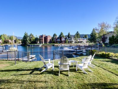 Photo for Lakefront home on the Tahoe Keys w/ resort amenities - pool, hot tub, tennis!