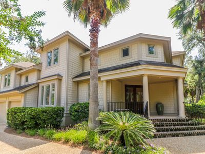 Photo for Beautiful Third Row Ocean Sea Pines Home with Private Pool & Spa