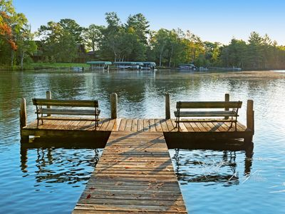 Photo for Comfortable dog-friendly suite w/ shared dock, tennis court on Voyageur Lake!