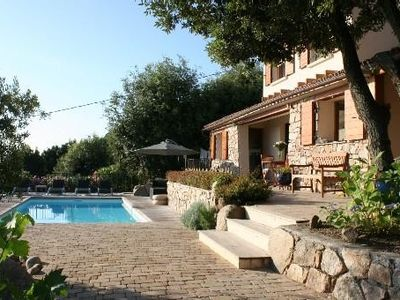 Photo for Brand new villa with secured pool, panoramic view of sea and mountain, quiet
