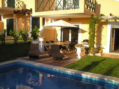 Patio, Pool, Garden at back of House