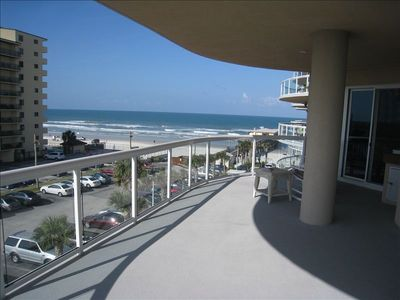 The beach is an elevator away. Walk out the beach front door to the ocean.