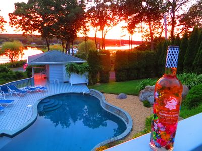 Summer Harborview Sunset, With Wolffer Summer in a Bottle, Need We Say More?