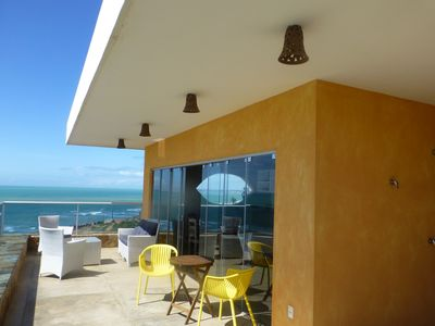 Photo for Brazil - Modern Villa on beach, with private pool, spectacular oceanview+turtles