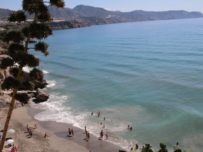 Photo for Nerja centre - Torrecilla Playa 250 mtrs - 2 bedrooms - Wifi - pool - air con