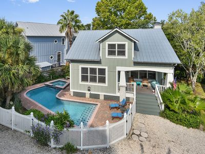 Photo for St Simons Coolest Beach Bungalow with Private Pool/Hot Tub!