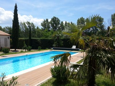 Photo for Villa, 6-12 persons, heated pool, sauna, fitness, A/C, huge outside kitchen