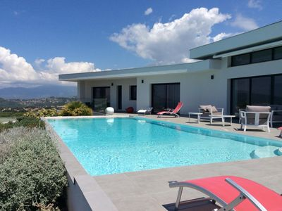 Photo for In Porticcio very recent villa with exceptional views over the bay of Ajaccio.