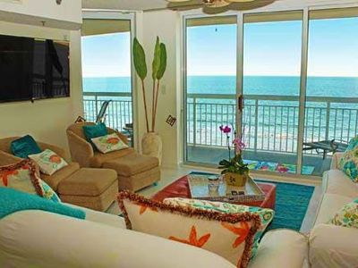 Photo for Crescent Shores 503, 4 Bedroom Beachfront Condo, Hot Tub and Free Wi-Fi!