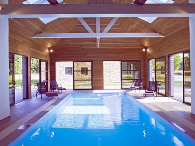 """Photo for Gite """"the pine"""" = 2 pers with heated indoor pool all year round at 29 °"""