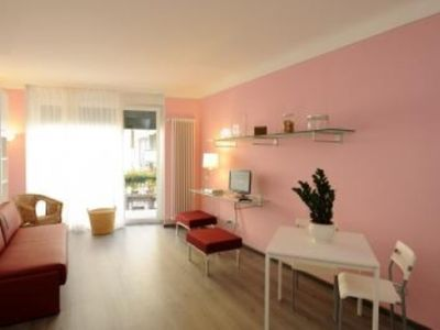 Photo for Apt + terrace, balcony, A/C and WiFi, in historic center of Stresa, just by lake