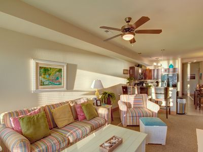 Photo for 3 Bedroom Condo, Soundfront, Community Pool, Sleeps 6, Nags Head, Sunset Joy