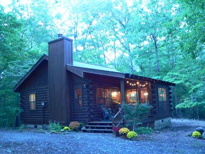 Photo for The Rivercane Cabin - Cozy, private, view, 1 mile to John C Campbell Folkschool